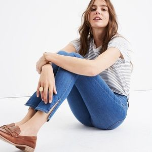 "Madewell 9"" High Rise Skinny Jeans Side Slit"
